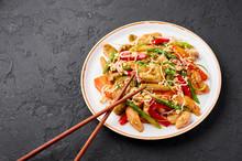 Chicken Chop Suey In White Pla...