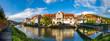 Leinwanddruck Bild - Altstadt, Wertheim, Deutschland