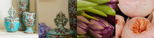Collage Of Vintage Ceramics An...