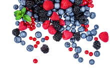 Sweet Mix  Berries Isolated On...