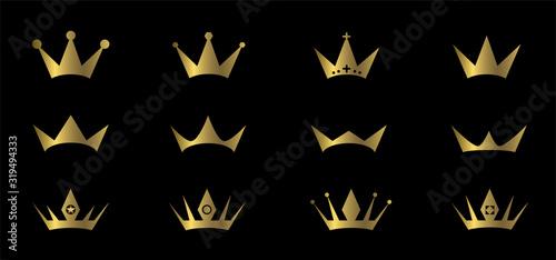 Golden crowns Canvas Print