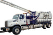 canvas print picture - isolated vacuum truck sewer and cleaner.