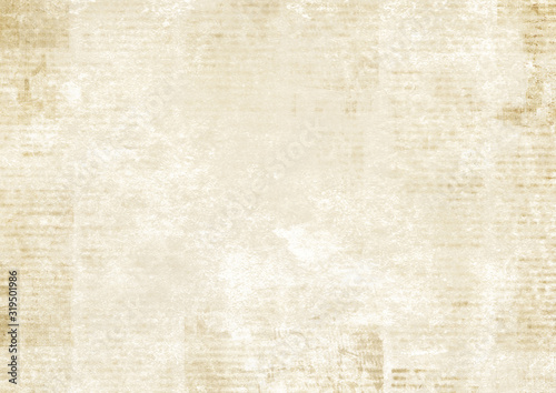 Obraz Newspaper with old grunge vintage unreadable paper texture background - fototapety do salonu