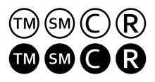 Copyright Trademark, Smartmark Set. Vector Illustartion