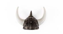 Viking Horned Helmet Isolated ...