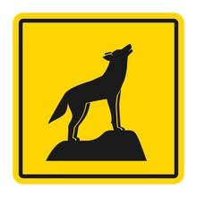 Wild Animals Yellow Road Sign....