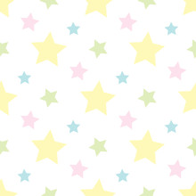 Seamless Pattern With Pastel Y...