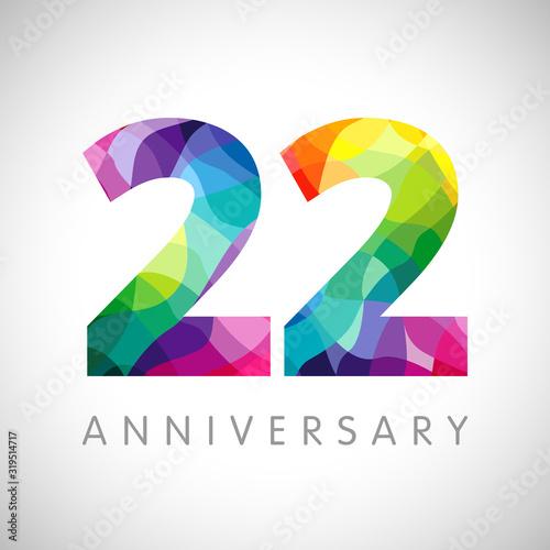 Photo 22 nd anniversary numbers