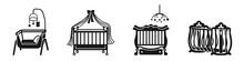 Crib Icons Set. Simple Set Of ...