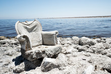 A Salt Encrused Lounge Chair S...