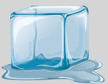 Ice Cube. Transparent Ice And ...