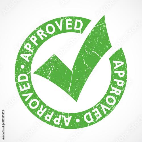 Grunge approved emblem Canvas Print