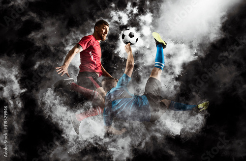 Fotografia Two soccer player man in action