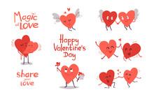 Happy Valentines Day. Set Of C...
