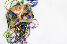 Mardi Gras Mask And Beads For ...