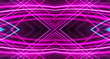 canvas print picture - Dark background, blue and pink neon lines. Symmetric reflection of geometric shapes.