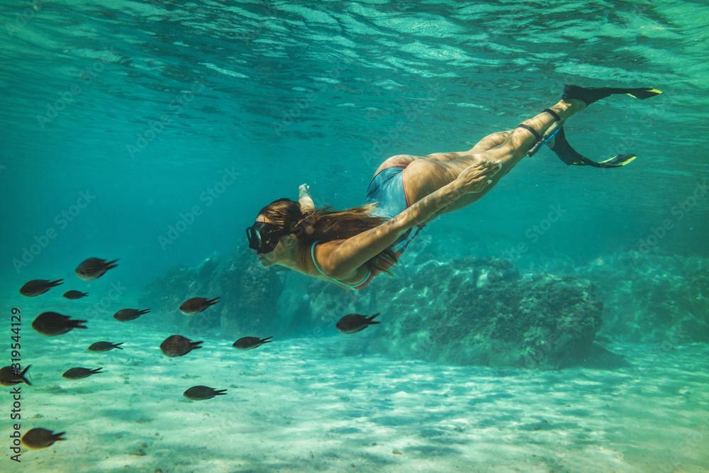 Fototapeta Enjoying Deep Waters