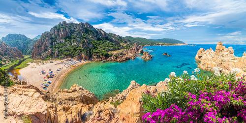 Leinwand Poster Costa Paradiso landscape, with wild Spiaggia di Li Cossi, Sardinia