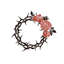 Crown Of Thorns And Red Roses ...