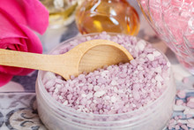 Bowl With A Lavender Sea Salt....