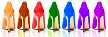 Female Shiny Colored Stilettos...
