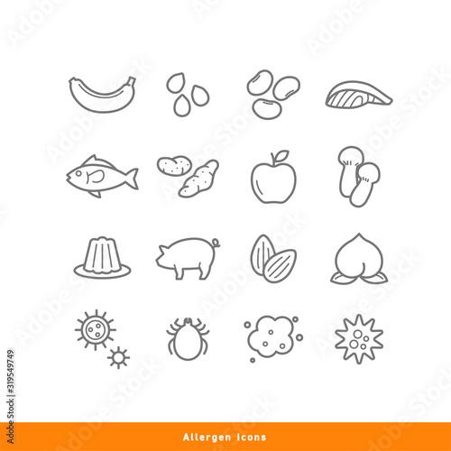 Allergen Icons Wallpaper Mural