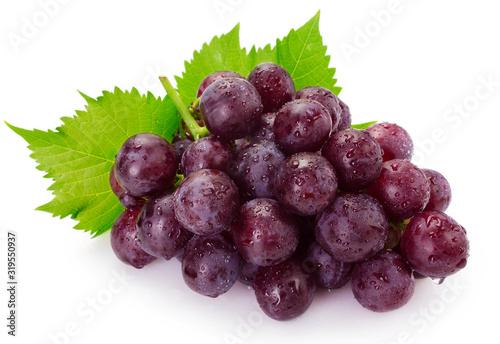 mata magnetyczna Fresh grape on white background