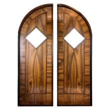 Retro Oak Door Isolated On White Background