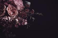 Beautiful Bouquet On Black Bac...