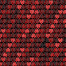 Red Black Heart Spots Background Seamless Pattern