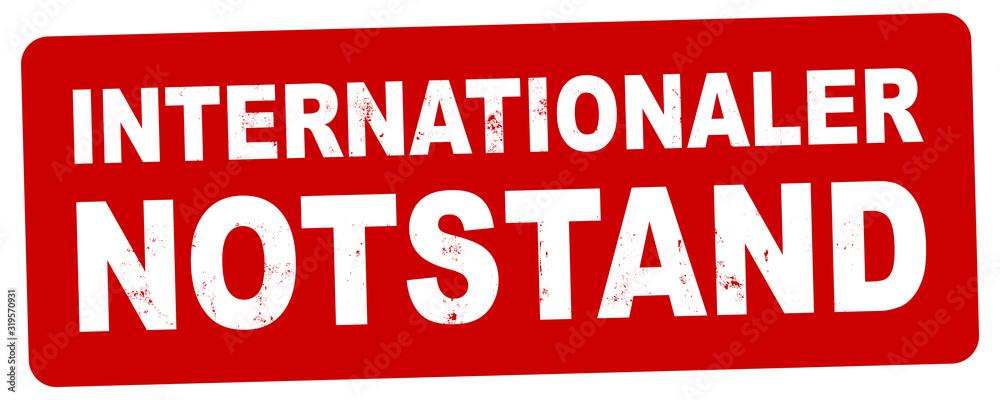 Fototapeta nlsb1270 NewLongStampBanner nlsb - german label / banner - deutsch - Stempel - Internationaler Notstand. (virus / epidemie) - 2komma5zu1 - xxl g8984