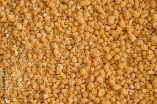 Valokuvatapetti Soya Lecithin Granules background texture, macro photo