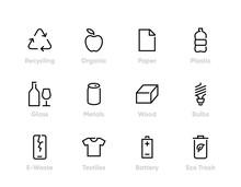 Recycling Vector Icons. Sortin...