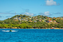 Residential Houses At The Bay, Mayreau Island Panorama, Saint Vincent And The Grenadines