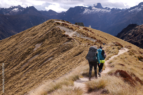 Fototapeta Walking Kepler track, New Zealand