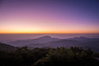 Doi Inthanon National park in the sunrise and mist at Chiang Mai Province, Thailand.