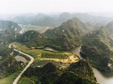 Aerial View Of Ninh Binh Vietnam