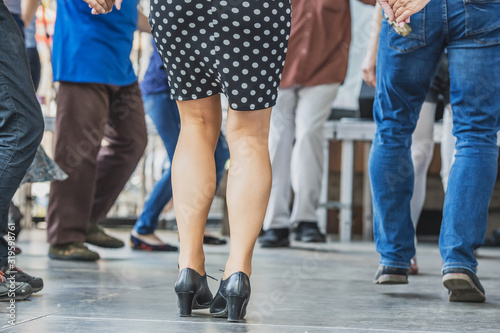 Obraz Low Section Of People Dancing On Floor - fototapety do salonu