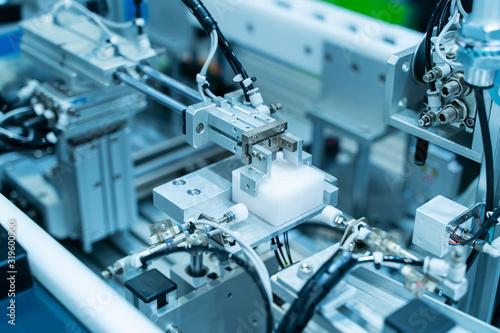 robotic pneumatic input to robot handle grip handle Canvas Print