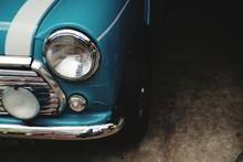 Close-Up Of Vintage Car Headli...