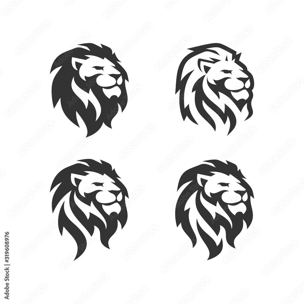 Fototapeta Lion Head Logo Design Template Vector illustration