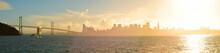San Francisco Bay Bridge With City During Sunset