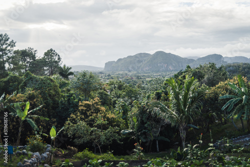 Cloudy weather over mountains in Vinales, Cuba.