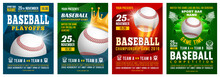 Set Of Baseball Posters With B...