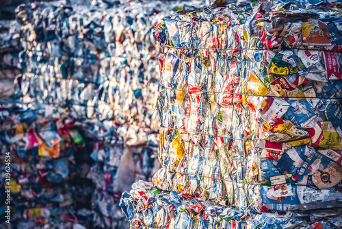 Photo Recycling and storage of waste for further disposal, trash sorting