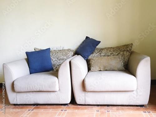 Obraz Cushions On Armchairs At Home - fototapety do salonu