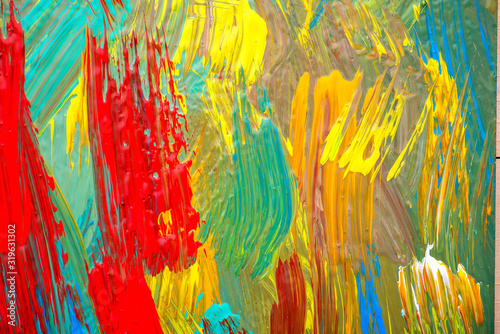 Abstrct art. Hand-painted background. SELF MADE Canvas Print