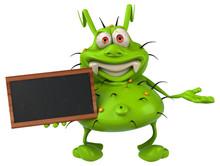 Fun 3D Germ Monster Holding A ...