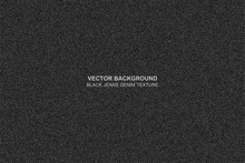 Vector Background Black Jeans Denim Texture - Background For Copy Space For Text