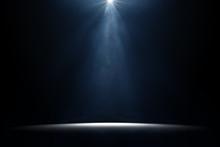 Illuminated Spotlight On Stage
